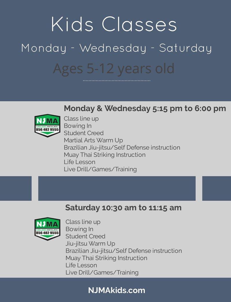 NJMA kids Schedule